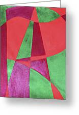 Art Painted In Abstract  Greeting Card