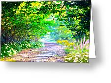 Art Rendered Country Pathway Greeting Card