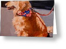 Art Show Dog 2 Greeting Card