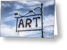 Art Sign Greeting Card