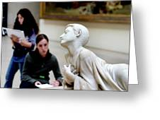 Art Students In The Louvre Greeting Card