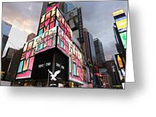 Art Takes Times Square Greeting Card