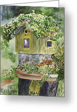 Artful Birdhouse Greeting Card