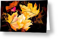 Artful Maple Leaves Greeting Card