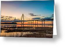Arthur Ravenel Jr. Bridge At Dusk Greeting Card