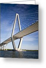 Arthur Ravenel Jr. Bridge In Charleston South Carolina Greeting Card