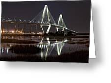 Arthur Ravenel Jr. Bridge Greeting Card by Ken Barrett