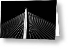 Arthur Ravenel Jr. Bridge Lines Greeting Card