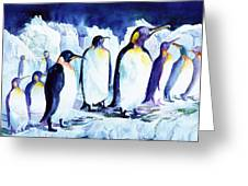 Arctic Penquins Greeting Card