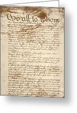 Articles Of Confederation Greeting Card