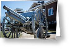 Artillery In Front Of The Armory Greeting Card