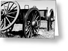 Artillery Wagon Greeting Card