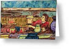 Artisan Market La Mariscal In Quito  Greeting Card