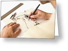 Artist At Work - Michelle Wie Part 1 Greeting Card