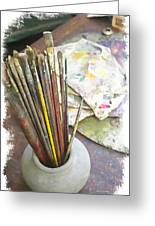 Artist Brushes  Greeting Card