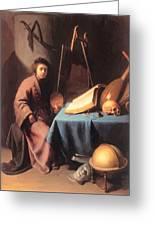 Artist In His Studio 1632 Greeting Card