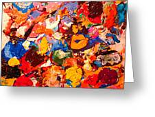 Artist Palette Greeting Card