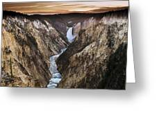 Artist Point Canyon Falls Greeting Card