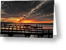 Artistic Black Sunset Greeting Card
