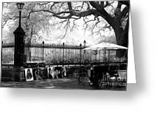 Artistic Day At Jackson Square Infrared Greeting Card