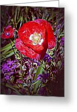 Artistic Kentucky Red Poppy Greeting Card