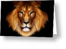 Artistic Lion Greeting Card by Aimelle