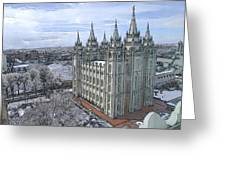 Artistic Rendering Of The Salt Lake City Lds Temple Greeting Card