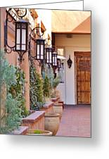 Santa Fe Garden Courtyard Greeting Card