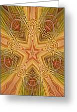 Artistic Star Of Texas Greeting Card by Linda Phelps