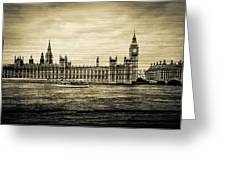 Artistic Vision Of Elizabeth Tower Big Ben And Westminster Greeting Card