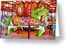 Artistically Textured Carousel Greeting Card