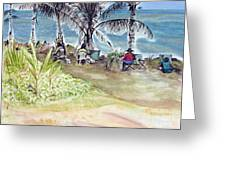 Artists By The Sea Greeting Card