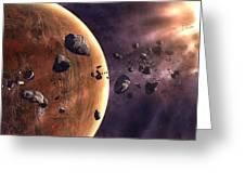 Artists Concept Of A Supernova Greeting Card