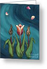 Artists In Bloom Greeting Card by Brandy Woods
