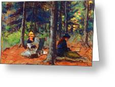 Artists In The Woods Greeting Card