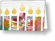 Artists Menorah- Art By Linda Woods Greeting Card