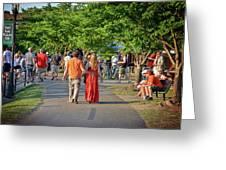 Arts Walk Greeting Card