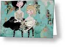 Artsy Girls Greeting Card