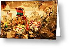 Artsy Water Bottles Made In Lebanon  Greeting Card