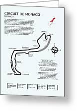 Circuit Of Monaco Greeting Card