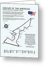 Circuit Of The Americas Greeting Card