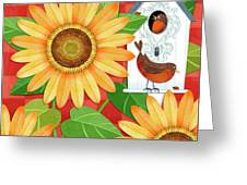 Sunflower Surprise Greeting Card