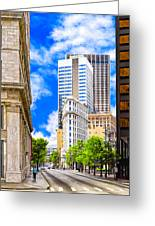 Atlanta's Flatiron On Peachtree Street Greeting Card