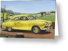 Studebaker Champion Antique Americana Nostagic Rustic Rural Farm Country Auto Car Painting Greeting Card