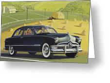 1950 Custom Ford - Square Format Image Picture Greeting Card