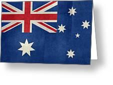 Australian Flag Vintage Retro Style Greeting Card
