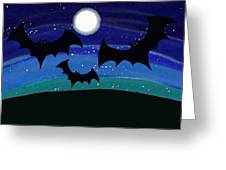 Bats At Night Greeting Card