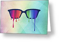 Love Wins Rainbow - Spectrum Pride Hipster Nerd Glasses Greeting Card