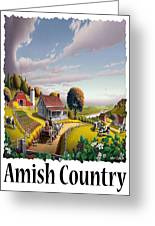 Amish Country - Appalachian Blackberry Patch Country Farm Landscape 2 Greeting Card