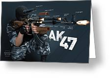 Ak-47 Infographic Greeting Card